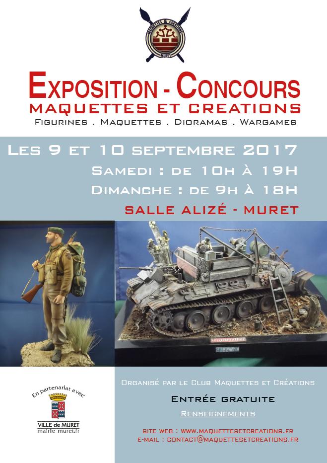Expo dans le sud, Mirepoix 19 & 20 août, Muret 9 & 10 septembre 2017 + Pexiora 3 septembre. Affiche_MAC_2017